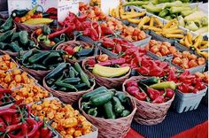 Farmers Market! In the summer, we shop for local ingredients to use in our breakfasts. Nothing compares to the freshness!
