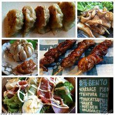 久しぶりっ? お弁当とたこ焼きが始まった #居酒屋 螢 #japanese #restaurant #izakaya #food #dinner #beer #bentou #yakitori #gyouza #dalad #garlic #squid #takoyaki #philippines #フィリピン #焼き鳥 #餃子 #ビール