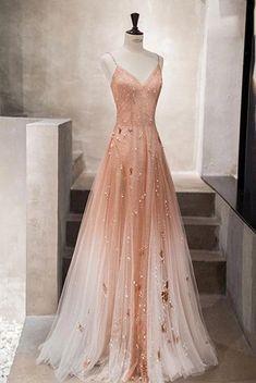 Stunning Prom Dresses, Prom Dresses Long Pink, Pretty Prom Dresses, Elegant Dresses For Women, Tulle Prom Dress, Ball Dresses, Homecoming Dresses, Cute Dresses, Evening Dresses