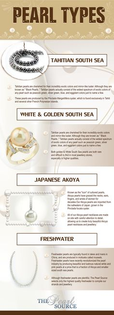 Did You Know There Were 4 Kinds Of Pearl? - Infographic