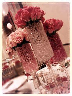 Pink centerpiece by Dezign Shop