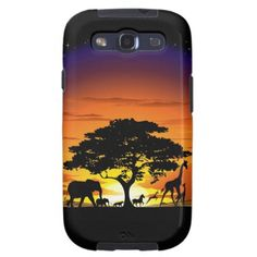 #Wild #Animals #Savannah #Sunset #Samsung #Galaxy #Case > http://www.zazzle.com/wild_animals_savannah_sunset_samsung_galaxy_case-179447073751954063#