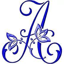 Alfabeto e Signo - Elaine Cristini - Веб-альбомы Picasa Machine Embroidery Designs, Embroidery Stitches, Embroidery Patterns, Hand Embroidery, Embroidery Alphabet, Embroidery Monogram, Creative Lettering, Hand Lettering, Scrapbook Letters