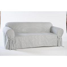 Classic Stripe Sofa Slipcover   Overstock™ Shopping   Big Discounts On Sofa  Slipcovers   Natural Health, Home U0026 Beauty   Pinterest   Sofa Slipcovers  And ...
