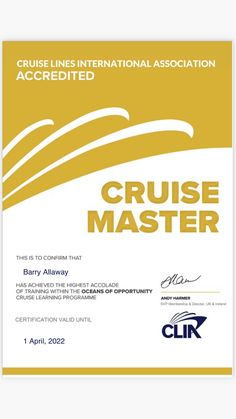 Delighted to have achieved CLIA highest cruise industry accreditation in Jan 2021 #gcwbarry www.GoCruisewithbarry.co.uk Ireland, Cruise, Learning, Cruises, Studying, Irish, Teaching, Onderwijs
