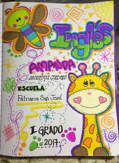 Portadas cuadernos Diy And Crafts, Crafts For Kids, Arts And Crafts, Paper Crafts, Bulletin Board Design, Bullet Journal Month, Journal Writing Prompts, Decorate Notebook, Animal Coloring Pages