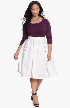 ELOQUII Full Midi Skirt (Plus Size)   Nordstrom