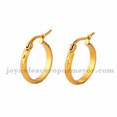 3*19m argollas de dorado en acero para mujer-SSEGG504370