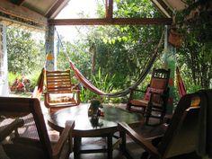 La terrasse et son hamac... Séjournez gratuitement ici! #Panama #HomeExchange