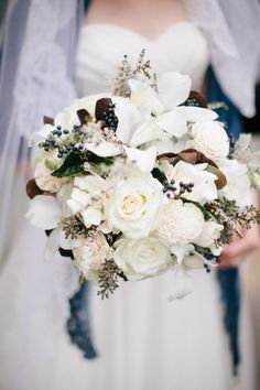 #Bouquet | See the wedding on SMP - http://www.StyleMePretty.com/2014/01/08/grand-geneva-resort-wedding/ Carly McCray Photography