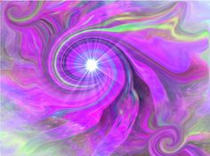Abstract Art Chakra Violet Swirl Third Eye Energy by primalpainter.