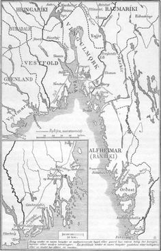 """This map shows the area of Norway called """"Viken"""". It is from this area that contains Oslo where my dad was was born that what came to be known as the Vikings(Vikingr) are thought to have originated. Scholars argue among themselves as to the accuracy of this belief but it's good enough for me!"""