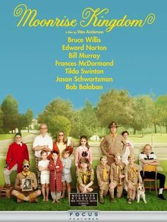Original 2012 French grande poster for the film Moonrise Kingdom directed by Wes Anderson with Bruce Willis / Edward Norton / Bill Murray / Frances. Edward Norton, Bill Murray, Bruce Willis, Best Indie Movies, Great Movies, Indie Films, Movies Free, Moonrise Kingdom Cast, Wes Anderson Films