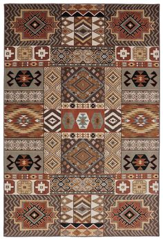 Woolrich 90185 Southwest Collage 80043 Brown Rug – Rug & Home