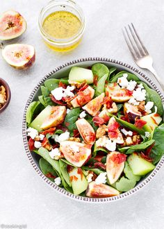 Spinach Prosciutto Honeydew Fig Salad Recipe – perfect for summer. Spinach…