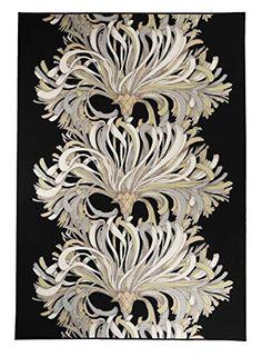 Vallila Interior CM000121-24 Teppich Romanssi, 160 x 230 cm, schwarz