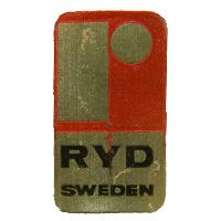 Ryd Swedish glass foil label.