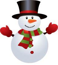 Weihnachten-Schneemann-Cartoon tragen einen Hut und roten ...