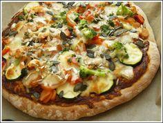 Zöldséges szalámis pizza recept