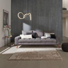 Canapé gris, Conforama Banquette, Sofa, Couch, Decoration, France, Design, Furniture, Home Decor, Art