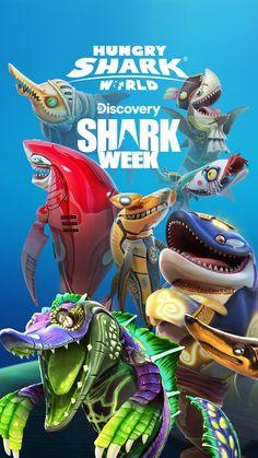 Hungry Shark World Discovery Shark Week, Marvel Studios Movies, Shark Games, All Sharks, Dancer Workout, Shark Art, Megalodon, Paper Birds, Game Art