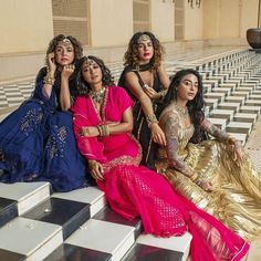 4 More Shots Please Giving Us Some Major Bridesmaid Dress Goals. Check out the trending dresses and photography ideas for your wedding with wedtech Shaadidukaan. Bridesmaid Inspiration, Wedding Inspiration, Pakistani Street Style, Anita Dongre, Bridesmaid Outfit, Brides And Bridesmaids, Wedding Gowns, Wedding Outfits, Wedding Bride
