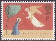 Christmas 1st Stamp (1996) The Annunciation