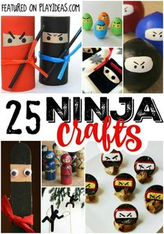 25 Stealthy Ninja Crafts for Kids are perfect for your katana-weilding warriors in the making. Click now!These 25 Stealthy Ninja Crafts for Kids are perfect for your katana-weilding warriors in the making. Click now! Crafts For Boys, Craft Activities For Kids, Toddler Crafts, Preschool Crafts, Fun Crafts, Art For Kids, Ninja Games For Kids, Summer Activities, Ninja Birthday Parties