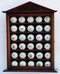 49 Golf Ball Display Case Cabinet Holder Rack W/ Uv Protection ...