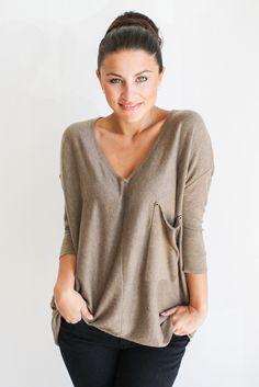 mocha raven sweater – gallery. boutique