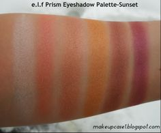 e.l.f prism eyeshadow palette in sunset.