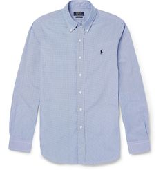 Polo Ralph Lauren - Slim-Fit Gingham-Check Cotton Shirt | MR PORTER