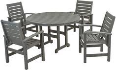 Polywood Signature 4-Seat Round Dining Set