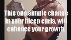 Growing a better bicep. Bicep workout movement.  https://youtu.be/UvOJM-Bmr6s