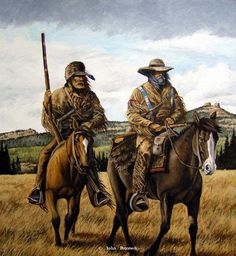 """""""Windswept Passage"""" Limited Edition Print -western art John Petersons western and mountain man art - Western, Native American & Mountain Man Art by John Peterson"""
