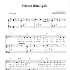 Choose Him Again (Vocal Solo) – Shawna Edwards Music Lds Primary Songs, Primary Singing Time, Primary Music, Vocal Lessons, Singing Lessons, Singing Tips, Song Sheet, Sheet Music, Piano Sheet