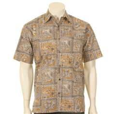 Hawaii Coffee Print Reverse Print Men's Hawaiian Shirt