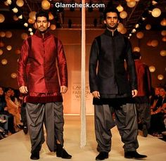 The first day of the Lakme Fashion Week Winter/Festive 2013 was opened by Manish Malhotra. Bollywood's favourite designer presented his … Wedding Men, Wedding Suits, Wedding Stuff, Blue Sherwani, Waist Coat, Nehru Jackets, Manish Malhotra, Indian Groom, Boys Suits