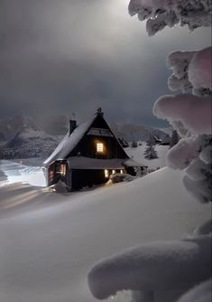New Nature Winter Wonderland Snow Scenes 62 Ideas Winter Szenen, I Love Winter, Winter Magic, Winter House, Winter Night, Snow Night, Winter Time, Wallpaper Natal, Beautiful World