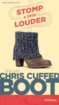 """A fall boot fave from rising country star, @NSATD! """"These cuffed boots by MUK LUK give my style an extra dose of cozy. Not to mention they are super adorable paired with leggings or jeans!"""" -Natalie Stovall"""