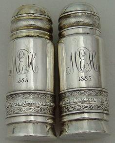 Salt Pepper Shakers Gorham 1885 Sterling Silver