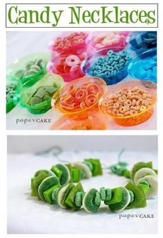 Candy & cereal necklaces.