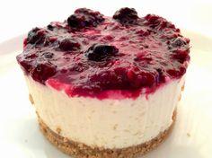 flor do brownie: Cheesecake de chocolate branco com frutos vermelho...