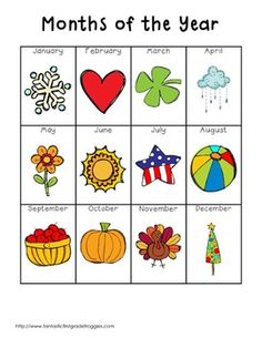 Writing Center Tools- Months of the Year Preschool Literacy, Kindergarten Writing, Kindergarten Classroom, Literacy Centers, Preschool Worksheets, Educational Activities, Learning Activities, Kids Learning, Senses Activities
