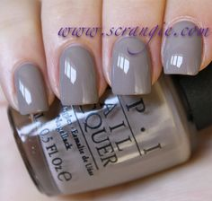 OPI Berlin There, Done That. A purple-tinged grey creme. It's pretty light and the purple is subtle.