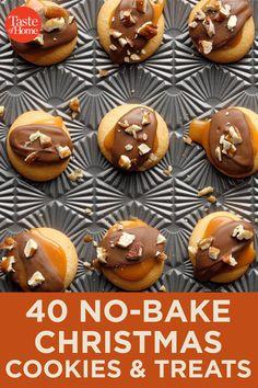 40 No-Bake Christmas Cookies & Treats