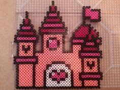 Pink Princess Castle perler beads by PerlerPixie on deviantART