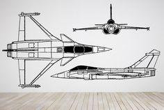 Wall Room Decor Art Vinyl Decal Sticker Mural Airplane Jet Aircraft Plane AS258