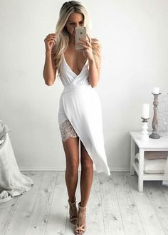 streetstyleplatform: White Dress