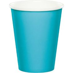 Touch of Color Hot/Cold Cups, 9 Oz, Bermuda Blue, 24 Ct